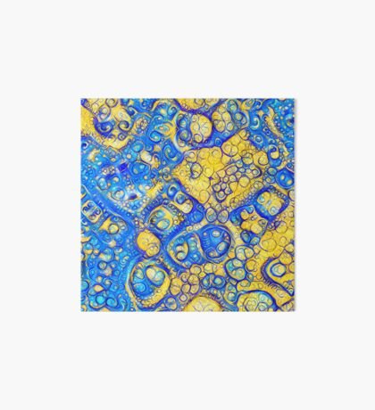 Yellow and Blue abstraction Art Board Print