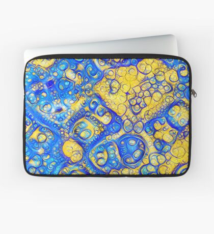 Yellow and Blue abstraction Laptop Sleeve