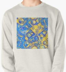 Yellow and Blue abstraction Pullover Sweatshirt
