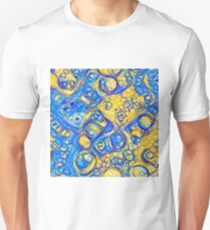 Yellow and Blue abstraction Slim Fit T-Shirt