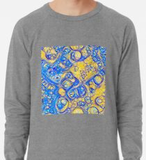 Yellow and Blue abstraction Lightweight Sweatshirt