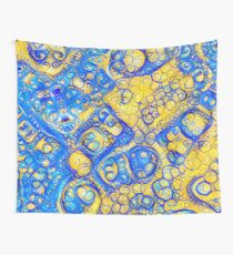 Yellow and Blue abstraction Wall Tapestry