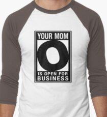 OPEN FOR BUSINESS Men's Baseball ¾ T-Shirt