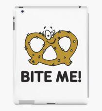 """Funny Pretzel """"Bite Me"""" Pretzels iPad Case/Skin"""