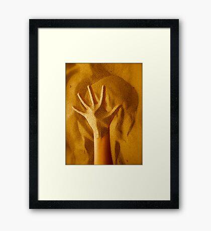 Sandy Hand Framed Print