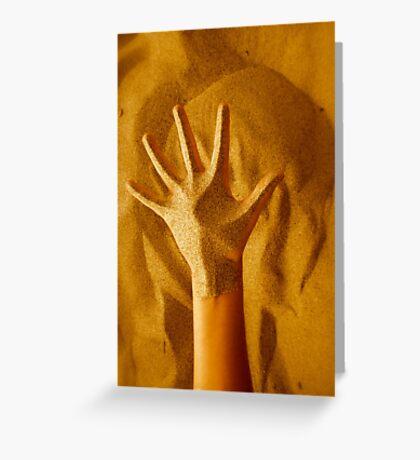 Sandy Hand Greeting Card