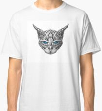 Ornate Blue Eyes Cat Classic T-Shirt