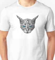 Ornate Blue Eyes Cat T-Shirt