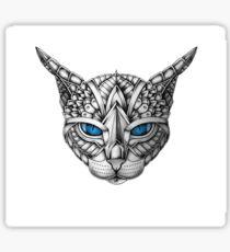 Ornate Blue Eyes Cat Sticker
