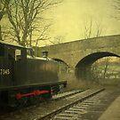 Steam Train To Nowhere ~ Hawes  ~ by Sandra Cockayne