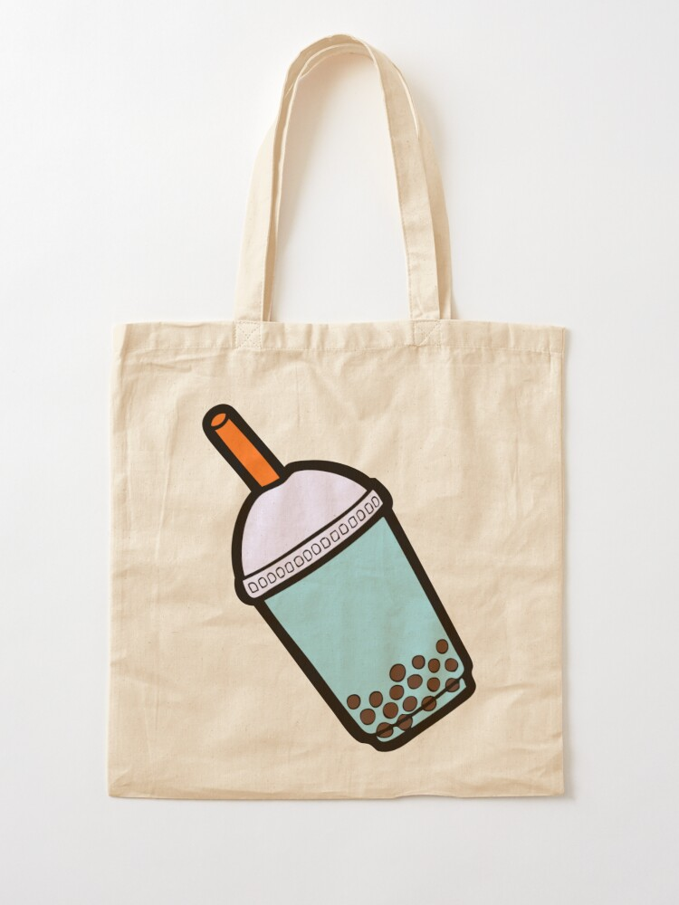 Alternate view of Bubble Tea Pattern Tote Bag