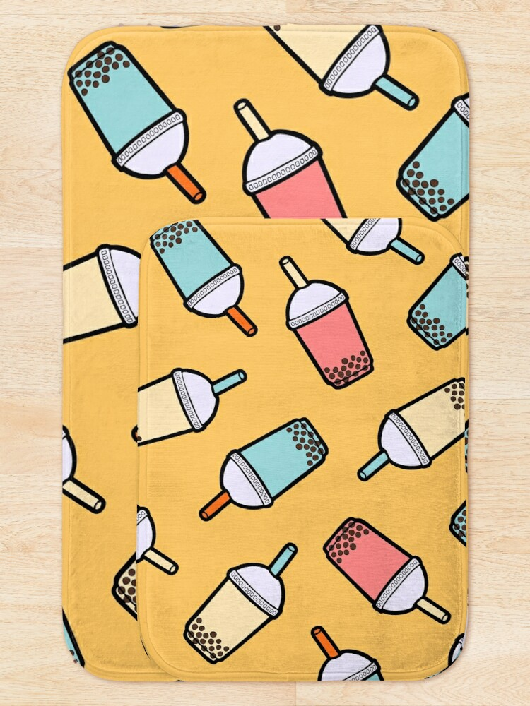 Alternate view of Bubble Tea Pattern Bath Mat