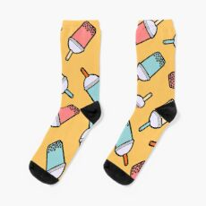 Bubble Tea Pattern Socks