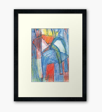 lazy chair Framed Print