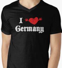 I Love Germany Men's V-Neck T-Shirt