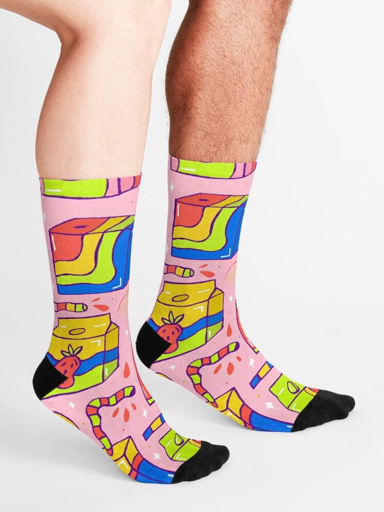 Alternate view of Juice Box Print Socks