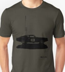 Valiant Charger Australian Muscle Car side view with power lines, 88 black Unisex T-Shirt