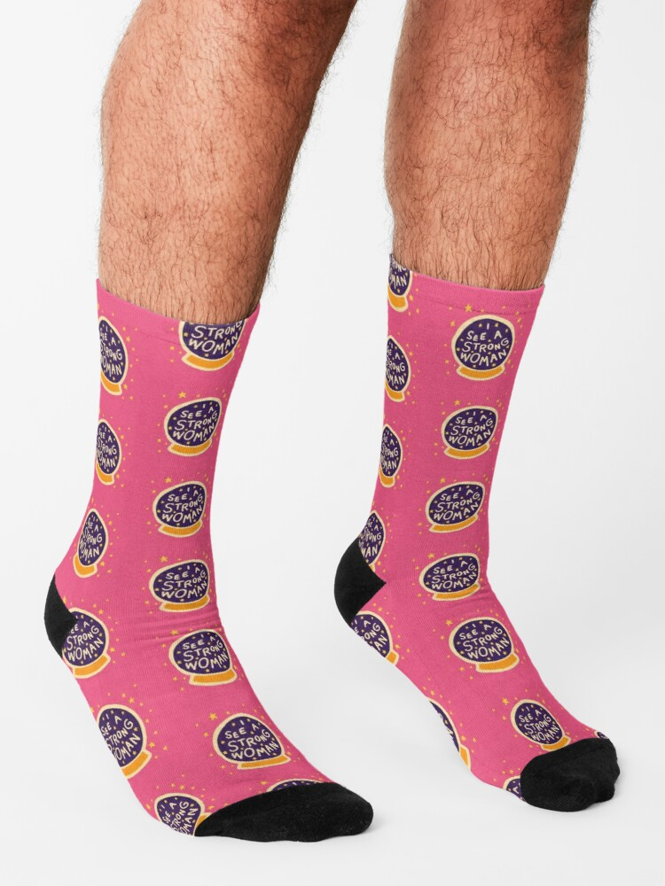 Alternate view of I see a strong woman Socks