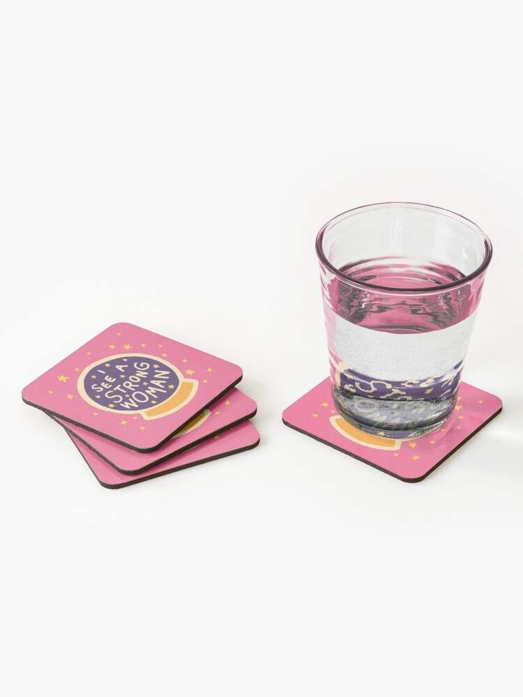 Alternate view of I see a strong woman Coasters (Set of 4)
