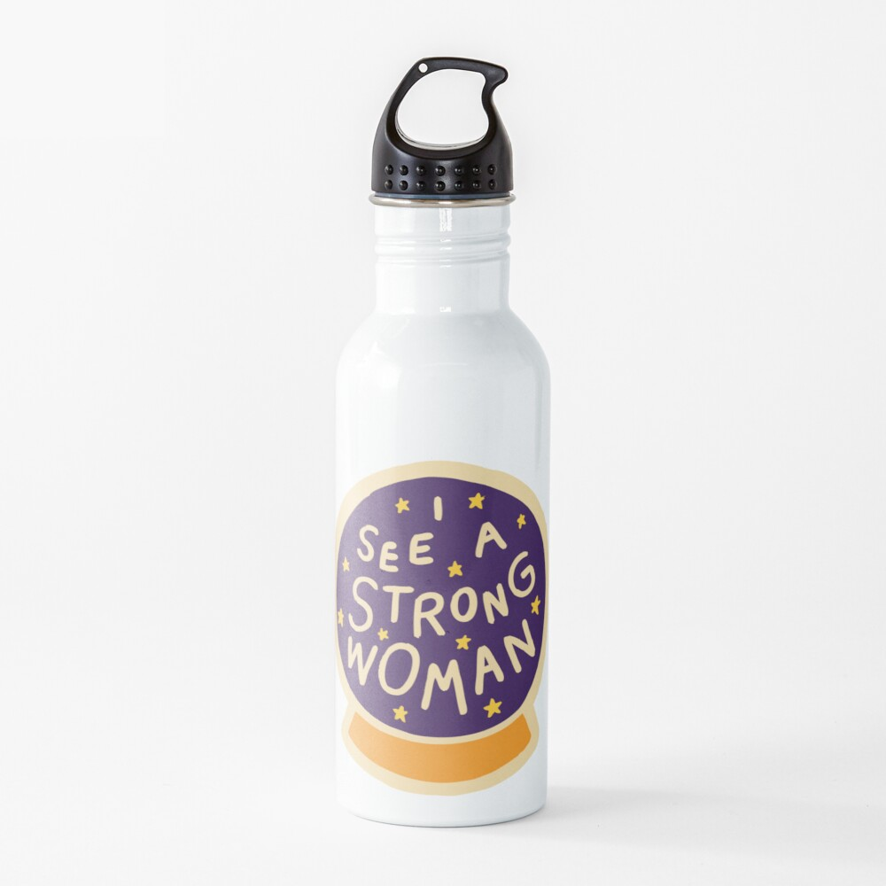 I see a strong woman Water Bottle