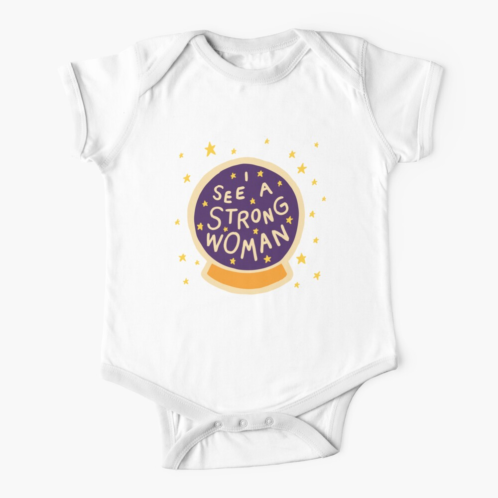 I see a strong woman Short Sleeve Baby One-Piece