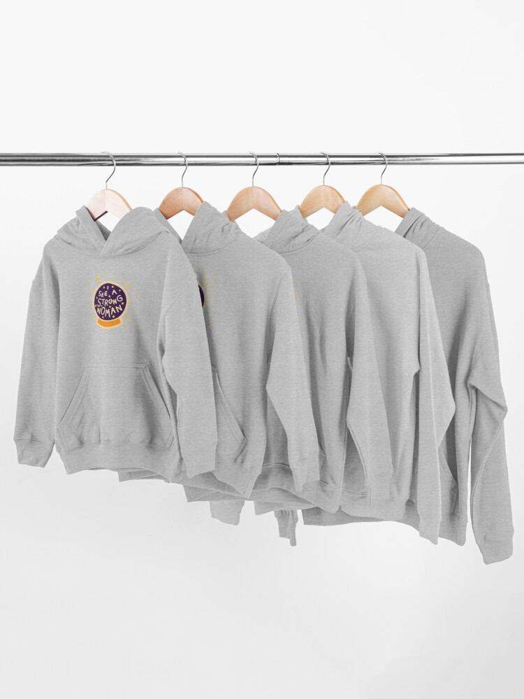 Alternate view of I see a strong woman Kids Pullover Hoodie