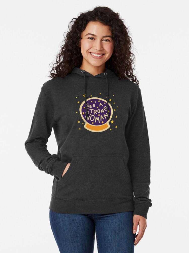 Alternate view of I see a strong woman Lightweight Hoodie