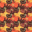 Orange dragocamo by psychonautic