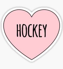 Hockey Lover, I Love Hockey, Hockey Pride Sticker