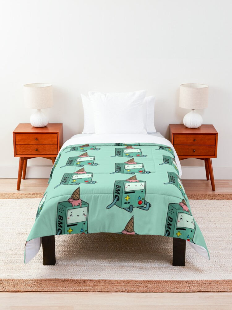 Alternate view of BMO adventure time Comforter
