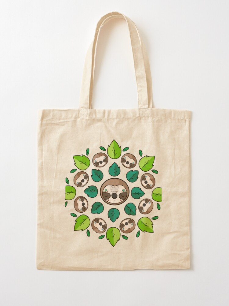 Alternate view of Mandala Sloth Tote Bag