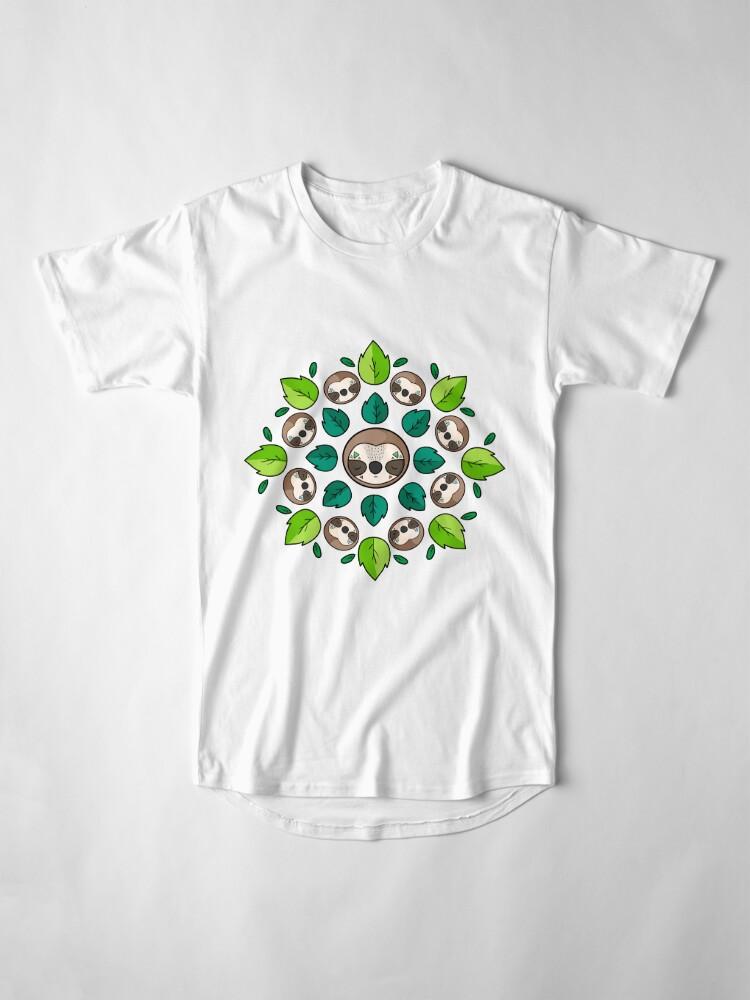 Alternate view of Mandala Sloth Long T-Shirt
