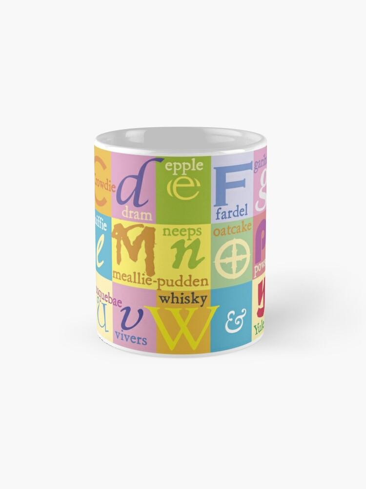 Alternate view of Scottish Food and Drink Alphabet Mug