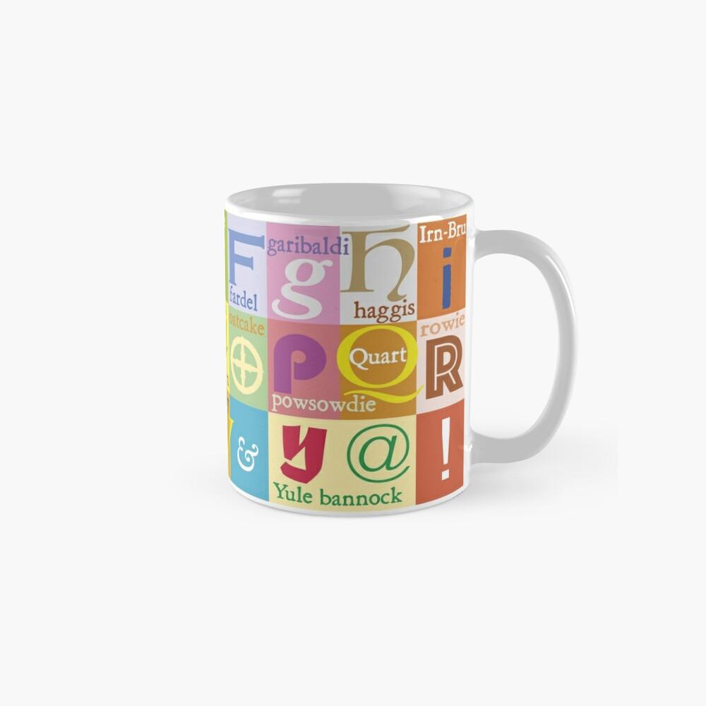 Scottish Food and Drink Alphabet Mug