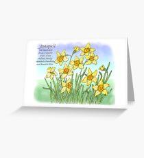 Jonquil Greeting Card