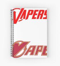 vapor sticker 2 pack Spiral Notebook