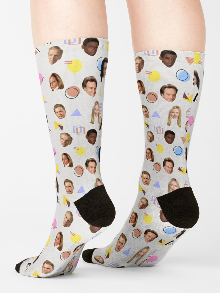 Alternate view of the west wing pattern Socks