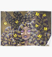 Tigeress and butterflies Poster