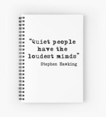 Quiet People Spiral Notebook