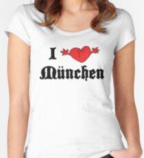I Love Munchen Women's Fitted Scoop T-Shirt