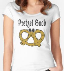 "Funny Pretzel ""Pretzel Snob"" Pretzels Women's Fitted Scoop T-Shirt"
