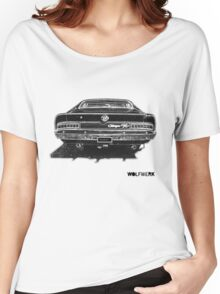 Australian muscle car R/T Valiant Charger back side black Women's Relaxed Fit T-Shirt