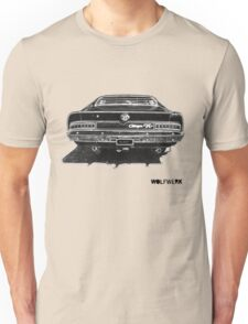 Australian muscle car R/T Valiant Charger back side black Unisex T-Shirt
