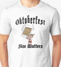"Funny Oktoberfest ""Size Matters"" Unisex T-Shirt"