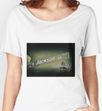 Jackson Street, Central District, Seattle, WA Street Sign Photography by MWP Relaxed Fit T-Shirt