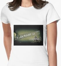 Jackson Street, Central District, Seattle, WA Street Sign Photography by MWP Fitted T-Shirt