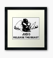 JUDO RELEASE THE BEAST Framed Print