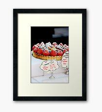 Berry tart Framed Print