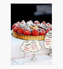 Berry tart Photographic Print