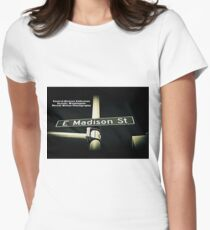 East Madison Street, Seattle, WA by MWP Fitted T-Shirt